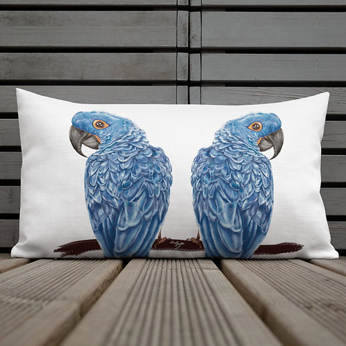 Linamal Two Sides Design- Red Macaw and Blue Macaw - Premium Pillow