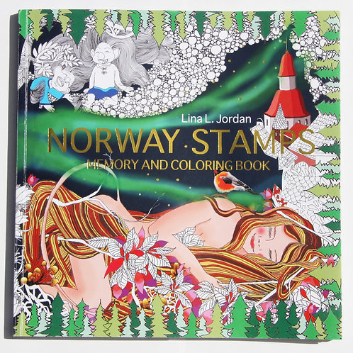 NORWAY STAMPS-Memory and coloring book