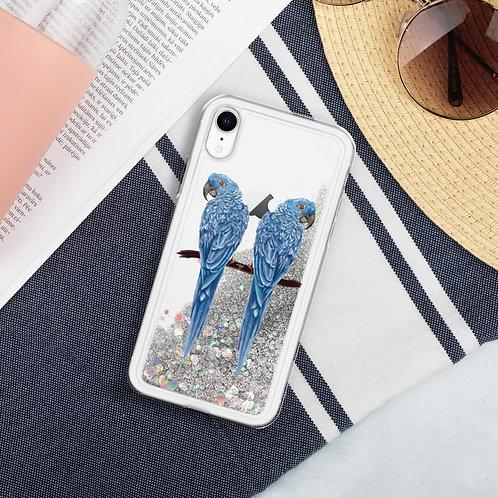 Linamal Blue Macaw - Liquid Glitter Phone Case