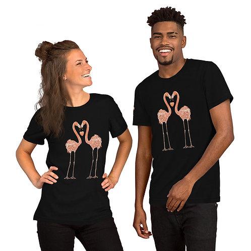 Linamal Flamingo LOVE Short-Sleeve Unisex T-Shirt