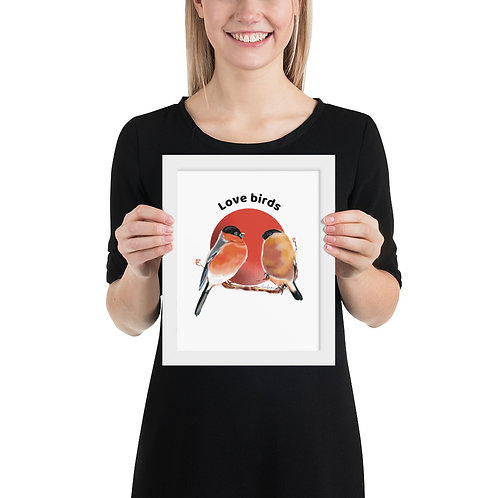 Linamal Love Birds-Framed poster