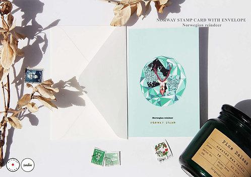 """""""Norwegian reindeer"""" card"""