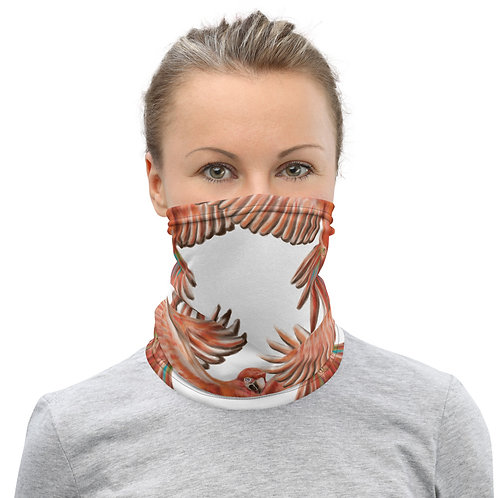 Linamal Red Macaw Neck Gaiter