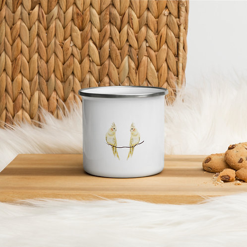 Linamal Cockatiel Enamel Mug