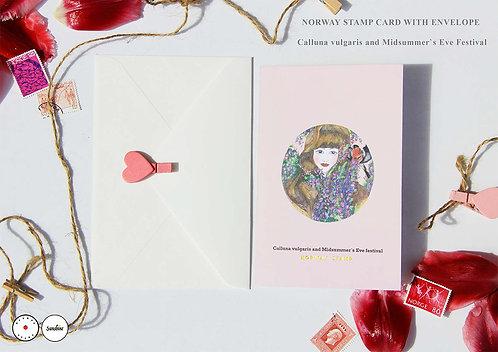 """Calluna vulgaris and Midsummer`s Eve Festival"" card"