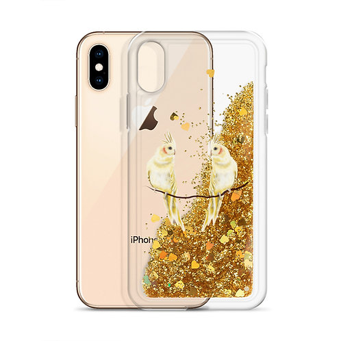 Linamal Cockatiel- Liquid Glitter Phone Case