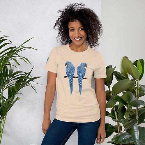 Linamal Blue Macaw Short Sleeve Unisex T-Shirt