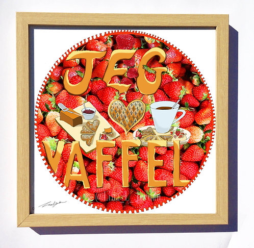 """I love waffles"" art print"