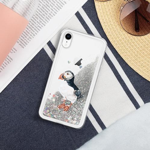 Linamal Puffin - Liquid Glitter Phone Case