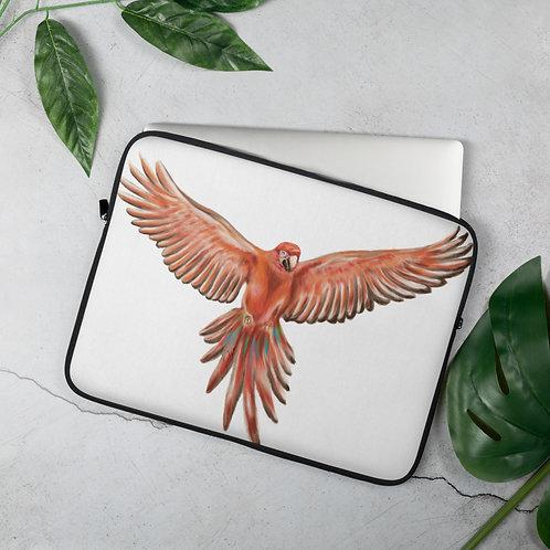 Linamal Red Macaw-Laptop Sleeve