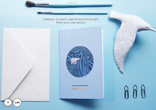 """""""Polar bears and glaciers"""" card"""