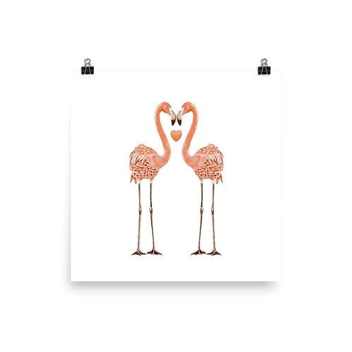 Linamal Flamingo LOVE Poster