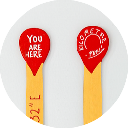 you are here bookmark-handmade-wood