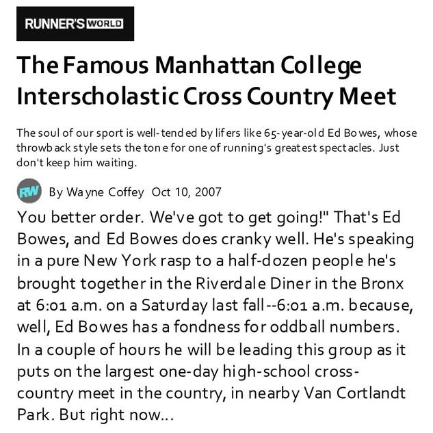 2007-10-10 Manhattan College Interschola