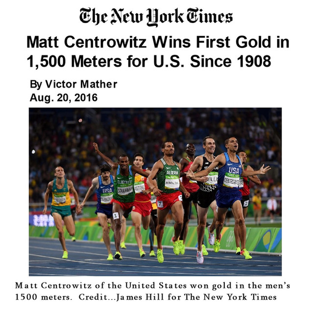 2016-08-20 Matt Centrowitz Wins First Go