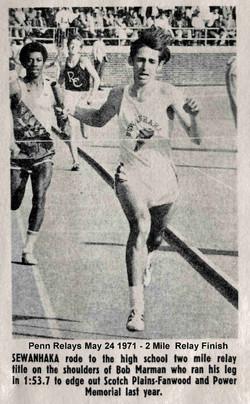 Penn Relays 1971 2MR
