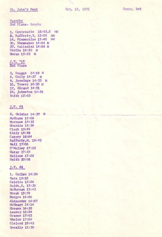 1971-10-16 St John's Meet