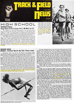Track N Field News June 1973 Mix 1