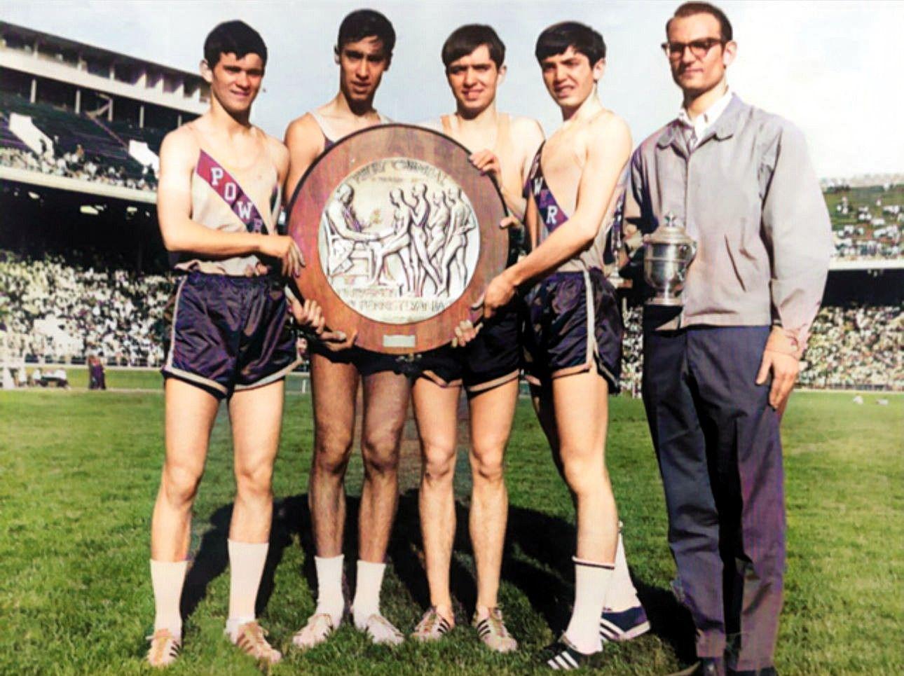 1969 Penn Relays 2 Mile Relay team photo