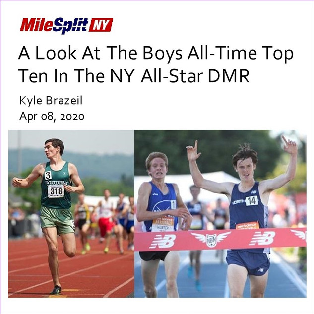 2020-04-08 A Look At The Boys All-Time Top Ten In The NY All-Star DMR