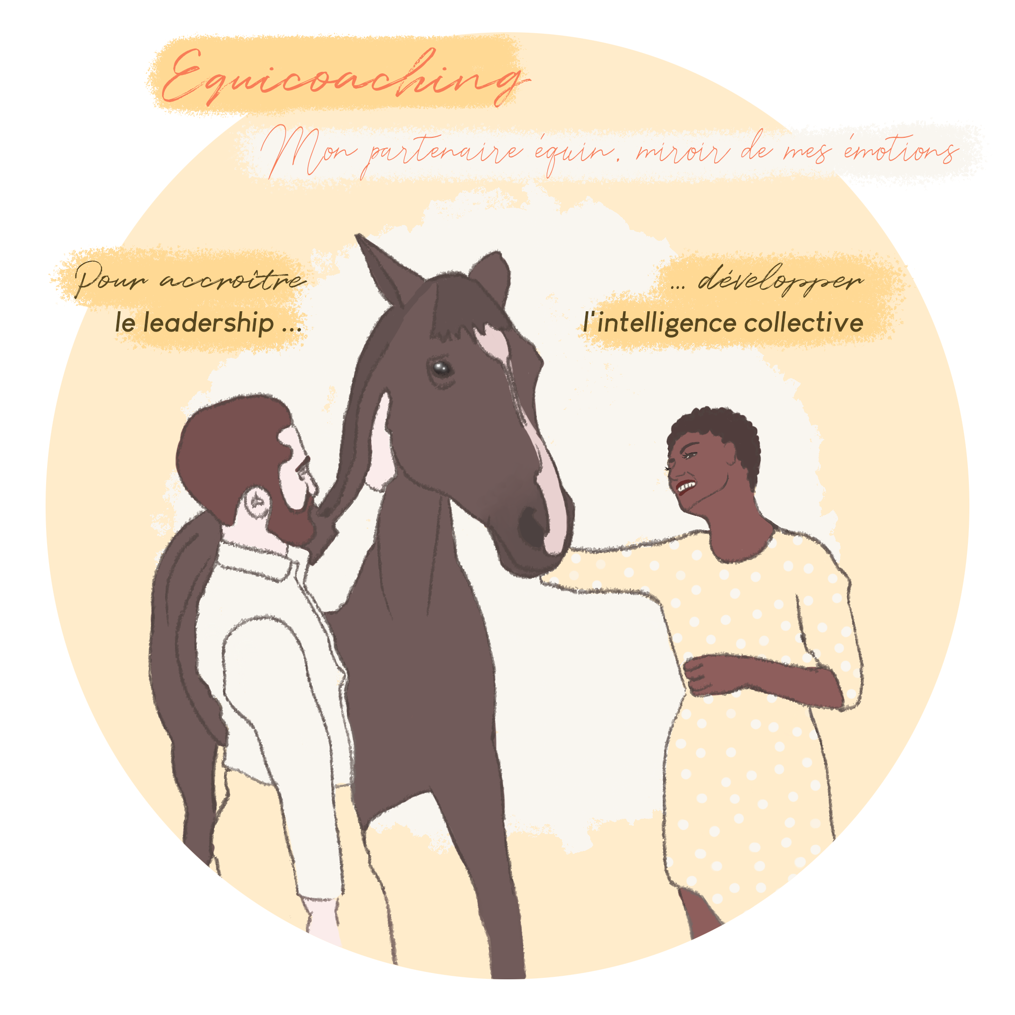 Ma Storytelling : cheval-groupe