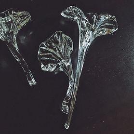 glass blowing flower
