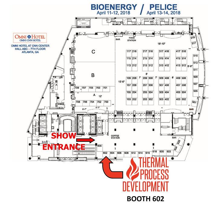 Wood Bioenergy Exhibitor Map, PELICE Exhibitor Map, Atlanta, Omni Hotel