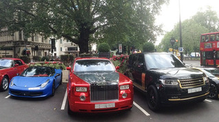 The £3.1m parking bay: Supercar parade outside the Dorchester Hotel continues - but could you revers