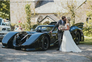 Is this the best wedding car ever? Batmobile takes groom to wedding
