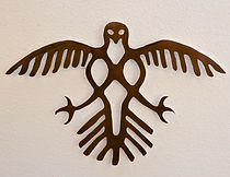 interior decor metal wall art looks like bird petroglyph