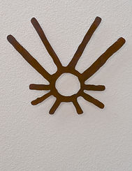 Museum art based on the New Mexico archaeology, called Comet