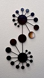 crop circle artwork made into metal wall art for interior or exterior decor