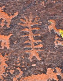 stone age art from Sinagua culture in Arizona, 900-1350 A.D.