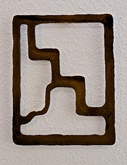 metal wall art for exterior design, based on new mexico petroglyph