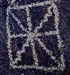 ancient art in form of petroglyph in new mexico, circa 900-1400AD