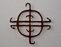 Mmetal wall art based on Utah cultural art and petroglyphs