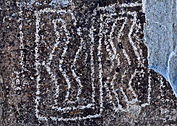 New Mexico petroglyph carved in rock