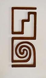 rustic decor in the form of metal wall art rendition of jornada mogollon culture petroglyph