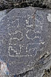 petroglyph from jornada mogollon culture in new mexico