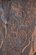 petroglyph found in Arizona, series of loops and scrolls