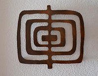 rustic decor rendered from petroglyph, named Concentric