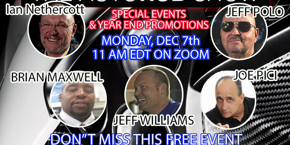 Automotive Special Events and Year End Promotions
