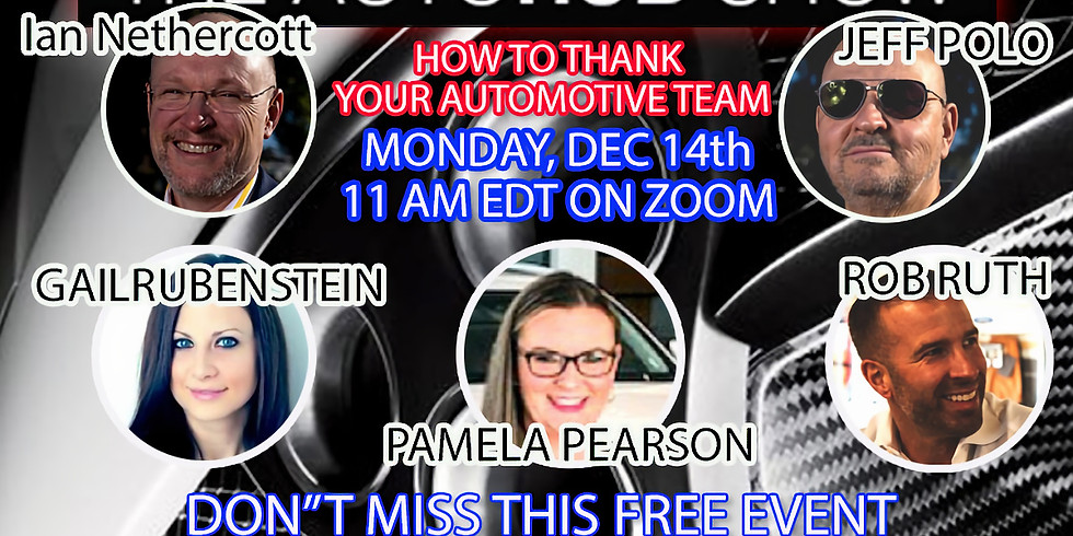 How To Thank Your Automotive Team
