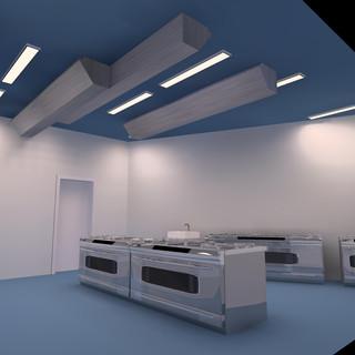 Großküchen Lichtplanung 3 D