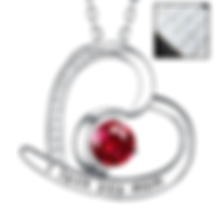 Love Heart Half Moon Jewelry Gifts for Mom