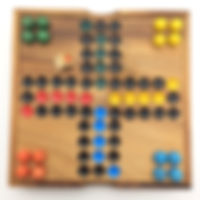 BRAIN GAMES Ball Ludo Wooden Board Game (6.37 Inches)