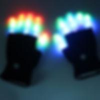 Flashing Black Gloves