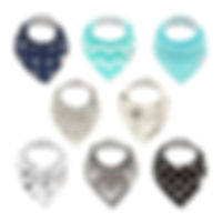 ALVABABY Bandana Drool Bibs for Boys and Girls 8 Pack of Baby Gift Settings