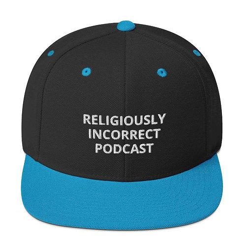Religiously Incorrect Podcast Snapback Black/Teal