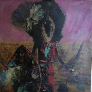 Zulu Man with Flowers